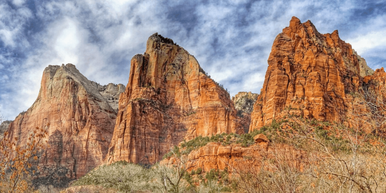 Sunset at Watchman Trail, Zion National Park, Utah