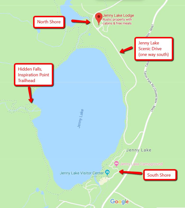 Jenny Lake Map