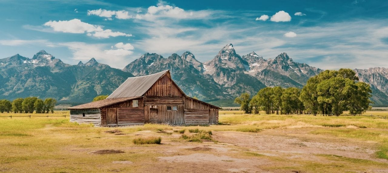 Barn in Mormon row, Grand Teton