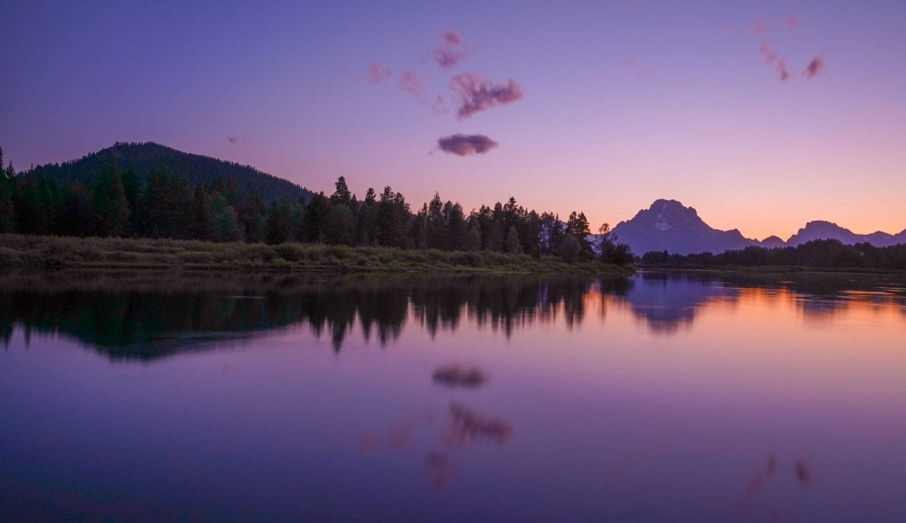 Oxbow Bend at Sunset, Grand Teton National Park