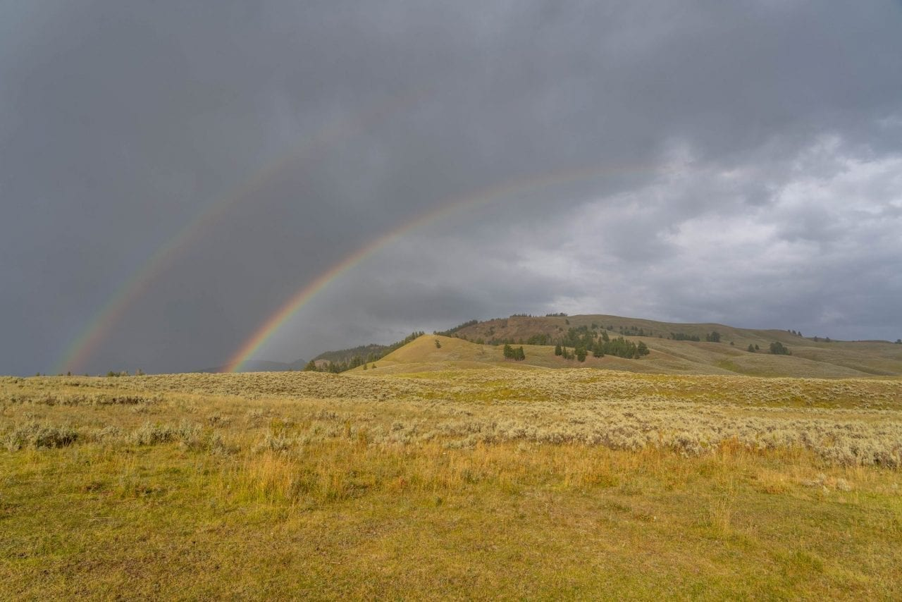 Double Rainbow in Lamar Valley