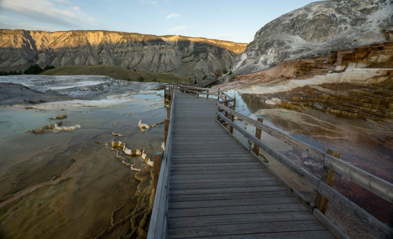 Mammoth Hot Springs Boardwalk