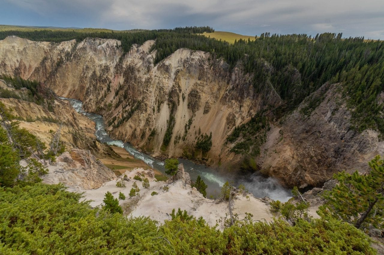 Panoramic view of Grand Canyon Yellowstone from North Rim