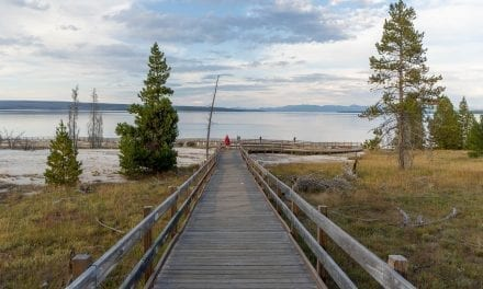 An evening walk in West Thumb Geyser Basin, Yellowstone