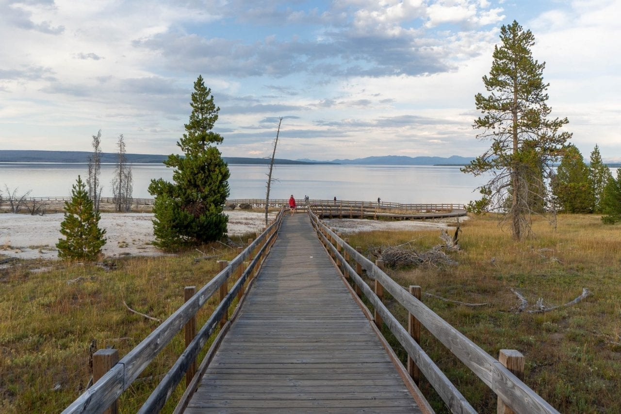 View of Yellowstone Lake from West Thumb area
